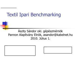 Textil Ipari Benchmarking