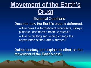 ppt chapter 10 the movement of the earth s crust powerpoint presentation id 2085055. Black Bedroom Furniture Sets. Home Design Ideas