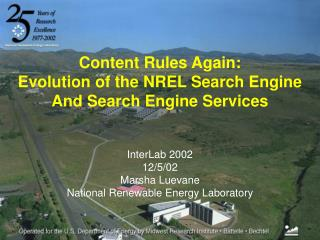 InterLab 2002 12/5/02 Marsha Luevane  National Renewable Energy Laboratory