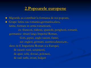 2.Popoarele europene