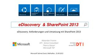 eDiscovery  & SharePoint 2013