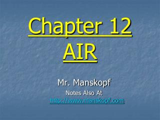 Chapter 12 AIR