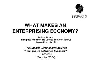 WHAT MAKES AN  ENTERPRISING ECONOMY?