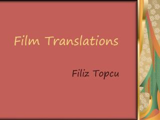 Film Translations