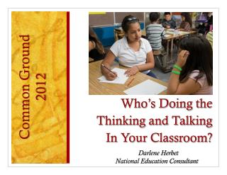 Who's Doing the Thinking and Talking In Your Classroom?