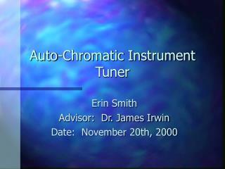 Auto-Chromatic Instrument Tuner