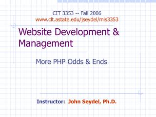 Website Development & Management