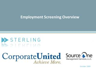 Employment Screening Overview