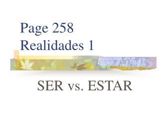 Page 258 Realidades 1