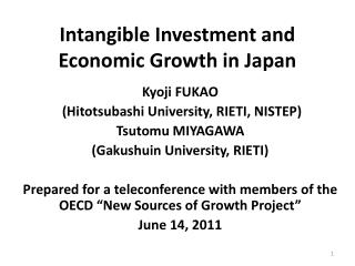 Intangible Investment and Economic Growth in Japan