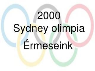 2000 Sydney olimpia