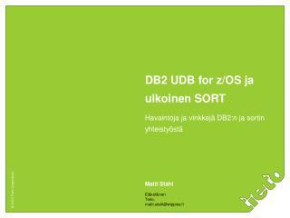 DB2 UDB for z/OS ja ulkoinen SORT
