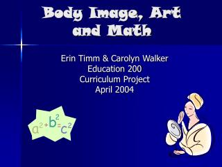 Body Image, Art and Math