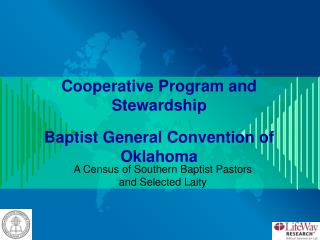 Cooperative Program and Stewardship Baptist General Convention of Oklahoma