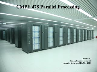 picture of  Tianhe,  the most powerful computer in the world in  Nov- 20 10