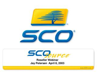Reseller Webinar Jay Petersen  April 8, 2003