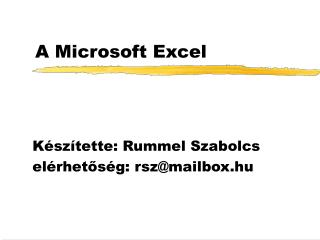 A Microsoft Excel