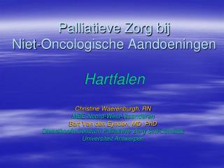 Palliatieve Zorg bij  Niet-Oncologische Aandoeningen Hartfalen