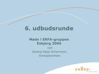6. udbudsrunde Møde i ERFA-gruppen  Esbjerg 2006