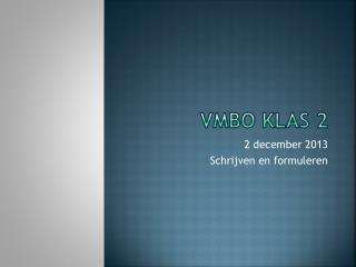 VMBO klas 2