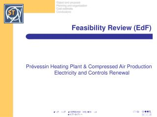 Feasibility Review (EdF)