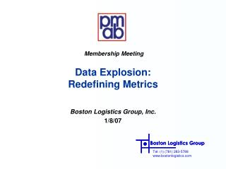 Data Explosion:  Redefining Metrics