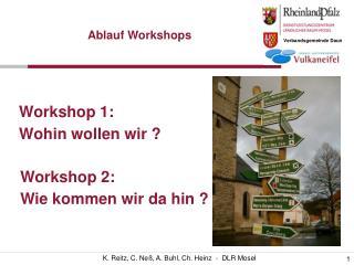 Workshop 1: Wohin wollen wir ?