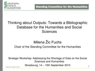 Thinking about Outputs: Towards a Bibliographic Database for the Humanities and Social Sciences