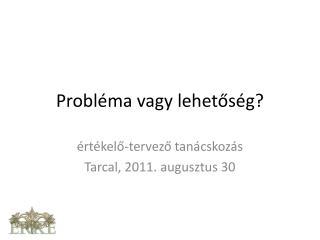 Probléma vagy lehetőség?