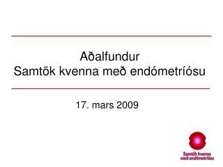 Aðalfundur Samtök kvenna með endómetríósu