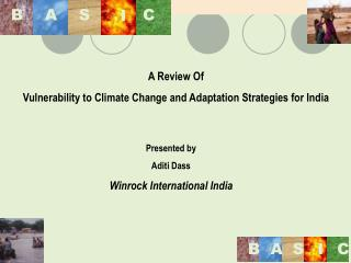 A Review Of  Vulnerability to Climate Change and Adaptation Strategies for India