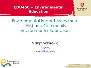 EDU450 � Environmental Education