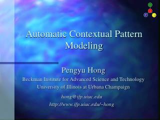 Automatic Contextual Pattern Modeling