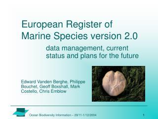 European Register of Marine Species version 2.0