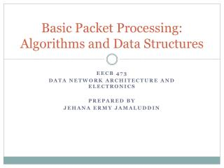 Basic Packet Processing: Algorithms and Data Structures