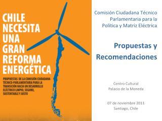 Centro Cultural  Palacio de la Moneda 07 de noviembre 2011 Santiago, Chile