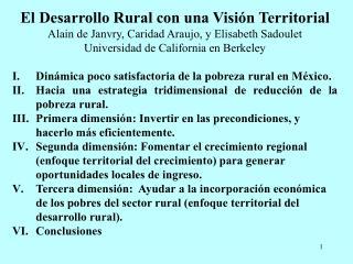 El Desarrollo Rural con una Visión Territorial