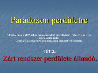 Paradoxon perdületre