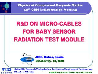 Physics of Compressed Baryonic Matter 12 th  CBM Collaboration Meeting