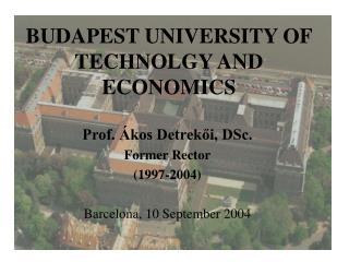 BUDAPEST UNIVERSITY OF TECHNOLGY AND ECONOMICS
