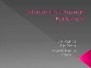 Estonians in European Parliament