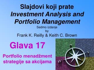 Glava  17 Portfolio menadžment strategije sa akcijama