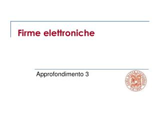 Firme elettroniche