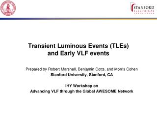 Transient Luminous Events (TLEs)  and Early VLF events