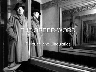 THE ORDER-WORD
