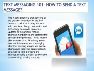 Text Messaging 101: How to Send a Text Message?