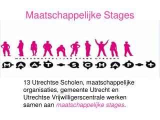 Maatschappelijke Stages