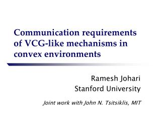 Communication requirements of VCG-like mechanisms in convex environments