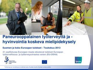 Paneurooppalainen työterveyttä ja -hyvinvointia koskeva mielipidekysely