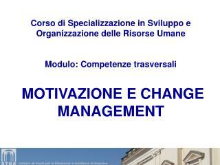 Corso di Specializzazione in Sviluppo e Organizzazione delle Risorse Umane